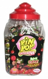 Lízátko PIN POP 18g BLACK CHERRY super kyselé SUPER CENA !!! 1 ks = 2.30 Kč