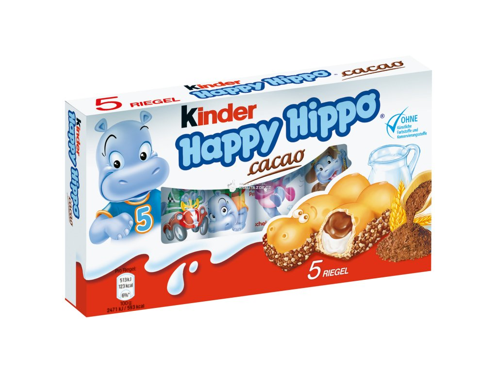 kinder Happy Hippo hrošík 5ks - kakao 103g