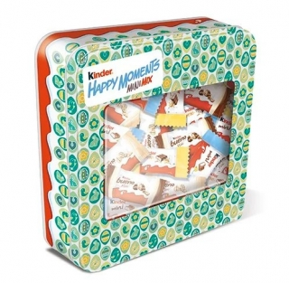 Kinder Happy Moments mix 347g JARO 2021 + plechová dóza ZELENÁ