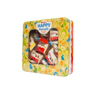 Kinder Happy Moments mix 347g JARO 2021 + plechová dóza ŽLUTÁ
