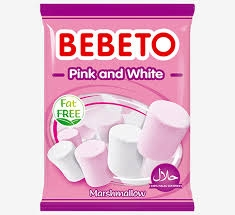 Želé BEBETO PINK and WHITE  Marshmallow 60 g VÝPRODEJ MDT: 14.12.2020