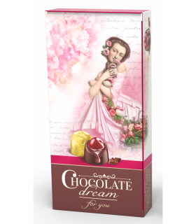 Hořká bonboniera CHOCOLATE DREAM 113g růžová