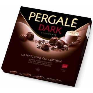 Bonboniéra Pergalē DARK chocolate CAPPUCCINO COLLECTION 130g