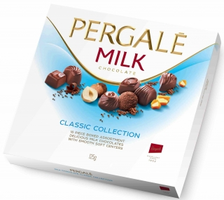Bonboniéra Pergalē MILK chocolate CLASSIC COLLECTION 125g